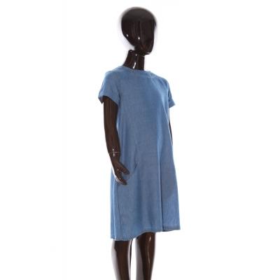 Vestido niña JH128 denim blue