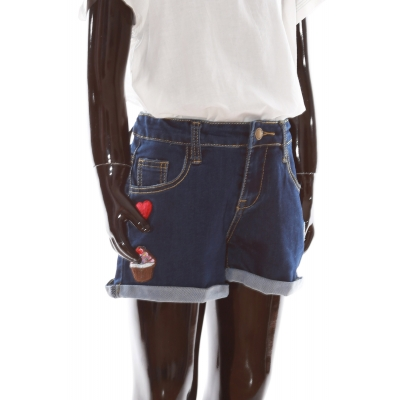 Girls shorts JH003 navy blue
